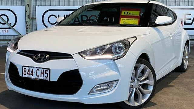 Used Hyundai Veloster FS + Coupe D-CT Rocklea, 2012 Hyundai Veloster FS + Coupe D-CT White 6 Speed Sports Automatic Dual Clutch Hatchback