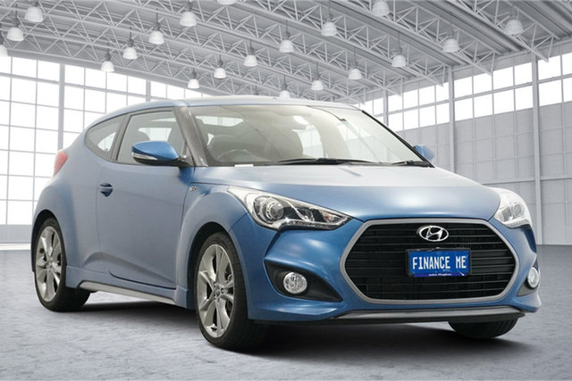 Used Hyundai Veloster FS4 Series II SR Coupe D-CT Turbo + Victoria Park, 2015 Hyundai Veloster FS4 Series II SR Coupe D-CT Turbo + Blue Sprinter 7 Speed