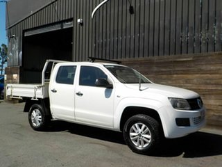 2015 Volkswagen Amarok 2H MY16 TDI420 4MOTION Perm Core White 8 Speed Automatic Cab Chassis.
