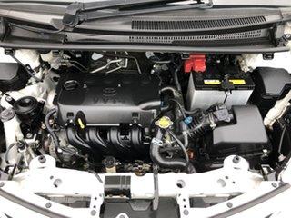 2013 Toyota Yaris NCP130R YR Glacier White 4 Speed Automatic Hatchback