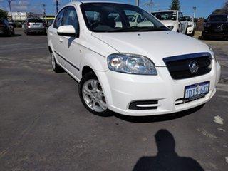 2010 Holden Barina TK MY10 White 4 Speed Automatic Sedan.