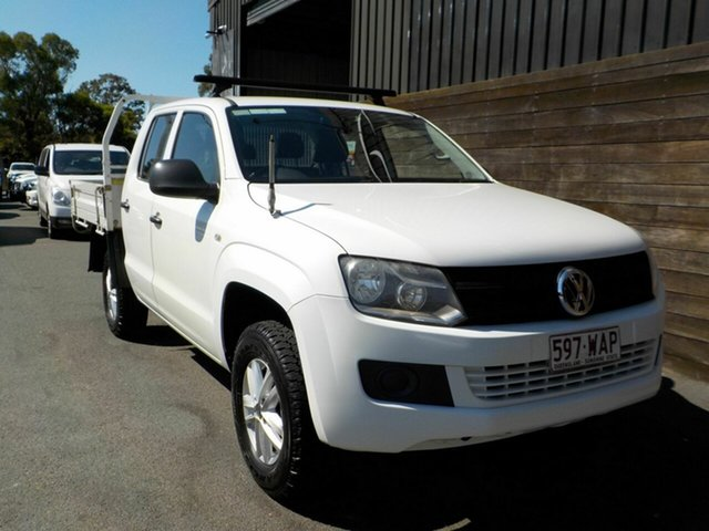 Used Volkswagen Amarok 2H MY16 TDI420 4MOTION Perm Core Labrador, 2015 Volkswagen Amarok 2H MY16 TDI420 4MOTION Perm Core White 8 Speed Automatic Cab Chassis