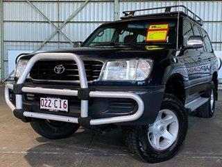 1998 Toyota Landcruiser FZJ105R GXL Blue 4 Speed Automatic Wagon.