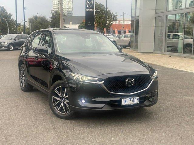 Used Mazda CX-5 KF4WLA Akera SKYACTIV-Drive i-ACTIV AWD South Melbourne, 2018 Mazda CX-5 KF4WLA Akera SKYACTIV-Drive i-ACTIV AWD Jet Black 6 Speed Sports Automatic Wagon