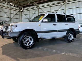 1999 Toyota Landcruiser HZJ105R Snowy GXL White 5 Speed Manual Wagon.