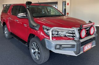 2018 Toyota Hilux GUN126R SR5 Double Cab Red 6 Speed Manual Utility.