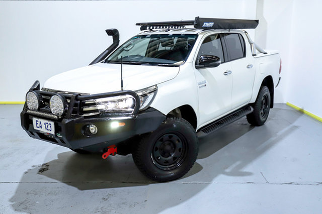 Used Toyota Hilux GUN126R SR5 Double Cab Canning Vale, 2016 Toyota Hilux GUN126R SR5 Double Cab White 6 Speed Sports Automatic Utility