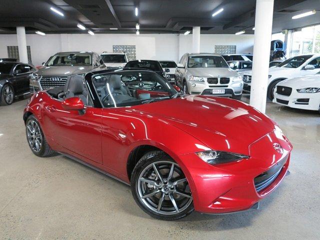 Used Mazda MX-5 ND GT RF SKYACTIV-Drive Albion, 2017 Mazda MX-5 ND GT RF SKYACTIV-Drive Red 6 Speed Sports Automatic Targa