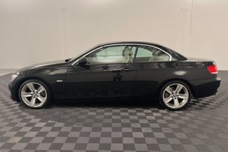 2009 BMW 3 Series E93 MY10 320d Steptronic Black 6 speed Automatic Convertible