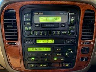 2001 Lexus LX UZJ100R LX470 Beige 4 Speed Automatic Wagon