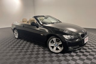 2009 BMW 3 Series E93 MY10 320d Steptronic Black 6 speed Automatic Convertible.