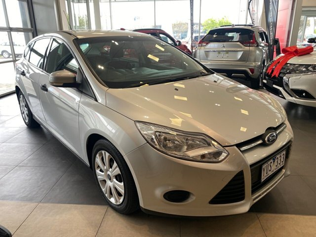 Used Ford Focus LW Ambiente PwrShift Essendon North, 2012 Ford Focus LW Ambiente PwrShift Silver, Chrome 6 Speed Sports Automatic Dual Clutch Hatchback