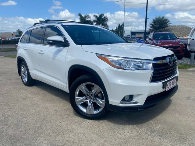 Used Toyota Kluger GSU50R Grande 2WD Townsville, 2016 Toyota Kluger GSU50R Grande 2WD White/010416 8 Speed Sports Automatic Wagon