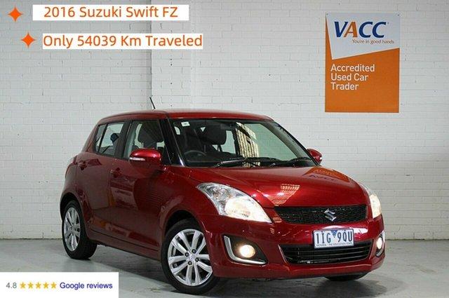 Used Suzuki Swift FZ MY15 GL Navigator Moorabbin, 2016 Suzuki Swift FZ MY15 GL Navigator Red 4 Speed Automatic Hatchback