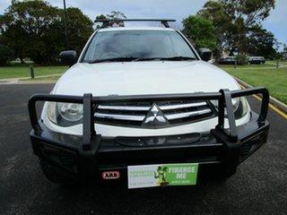 2010 Mitsubishi Triton MN MY10 GLX (4x4) White 5 Speed Manual 4x4 Double Cab Utility.