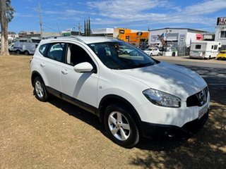 2012 Nissan Dualis J10 Series II MY2010 +2 Hatch X-tronic ST White 6 Speed Constant Variable