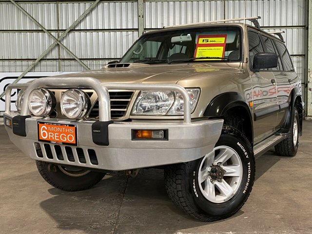 Used Nissan Patrol GU III MY2003 ST Rocklea, 2003 Nissan Patrol GU III MY2003 ST Gold 5 Speed Manual Wagon