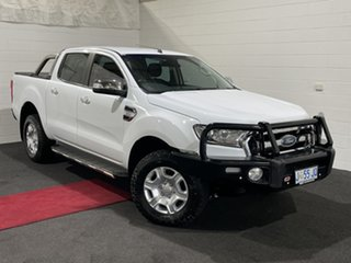 2017 Ford Ranger PX MkII XLT Double Cab White 6 Speed Manual Utility.