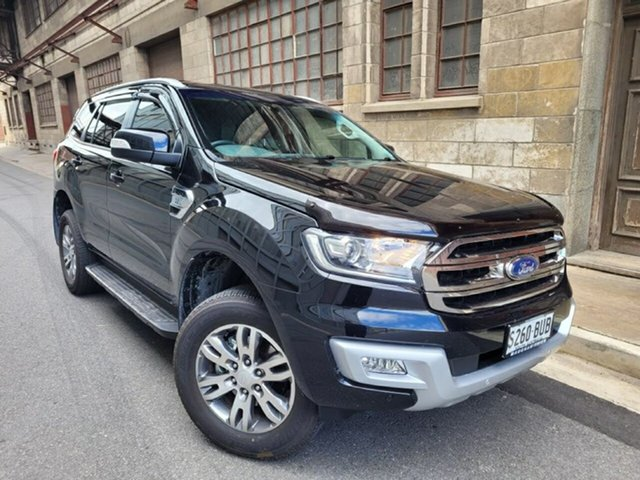 Used Ford Everest UA 2018.00MY Trend Cheltenham, 2018 Ford Everest UA 2018.00MY Trend Black/Grey 6 Speed Sports Automatic SUV