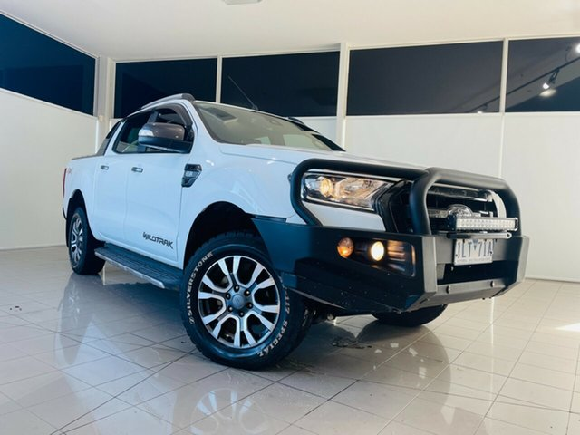 Used Ford Ranger PX MkII 2018.00MY Wildtrak Double Cab Deer Park, 2017 Ford Ranger PX MkII 2018.00MY Wildtrak Double Cab White 6 Speed Sports Automatic Utility