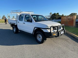 2012 Nissan Navara D40 MY11 RX (4x4) White 5 Speed Automatic Dual Cab Chassis.