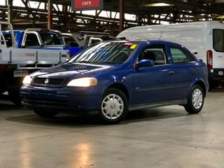 2003 Holden Astra TS MY03 SXI Blue 4 Speed Automatic Hatchback.