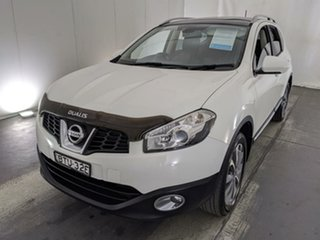 2010 Nissan Dualis J10 Series II MY2010 +2 Hatch X-tronic Ti White 6 Speed Constant Variable.