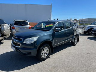 2012 Holden Colorado RG LX (4x4) Blue 5 Speed Manual Crew Cab Chassis.