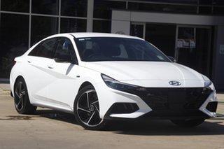 2021 Hyundai i30 Polar White DCT 7 Speed Sedan.