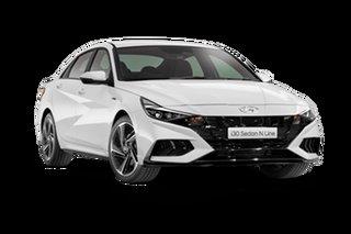 2021 Hyundai i30 CN7.V1 N Line Polar White 7 Speed Automatic Sedan