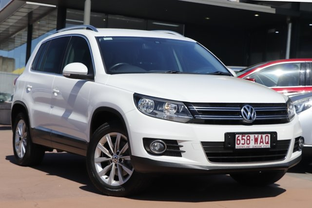 Used Volkswagen Tiguan 5N MY15 132TSI DSG 4MOTION Toowoomba, 2015 Volkswagen Tiguan 5N MY15 132TSI DSG 4MOTION White 7 Speed Sports Automatic Dual Clutch Wagon