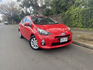 2014 Toyota Prius c NHP10R i-Tech E-CVT Red 1 Speed Constant Variable Hatchback Hybrid.