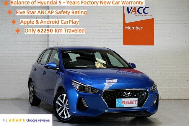 Used Hyundai i30 PD MY18 Active Moorabbin, 2017 Hyundai i30 PD MY18 Active Blue 6 Speed Sports Automatic Hatchback