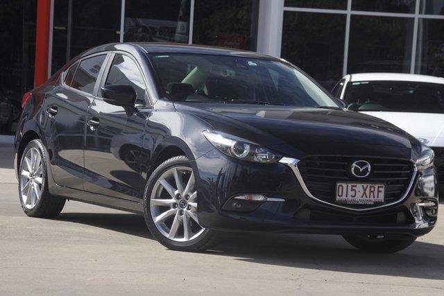 Used Mazda 3 BN5238 SP25 SKYACTIV-Drive Beaudesert, 2017 Mazda 3 BN5238 SP25 SKYACTIV-Drive Black 6 Speed Sports Automatic Sedan