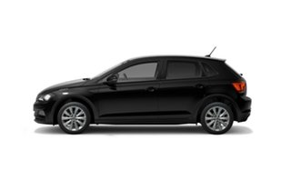 2021 Volkswagen Polo AW MY21 85TSI DSG Style Black 7 Speed Sports Automatic Dual Clutch Hatchback.