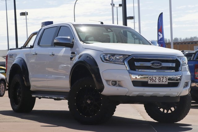 Used Ford Ranger PX MkII 2018.00MY XLT Double Cab Toowoomba, 2018 Ford Ranger PX MkII 2018.00MY XLT Double Cab White 6 Speed Sports Automatic Utility