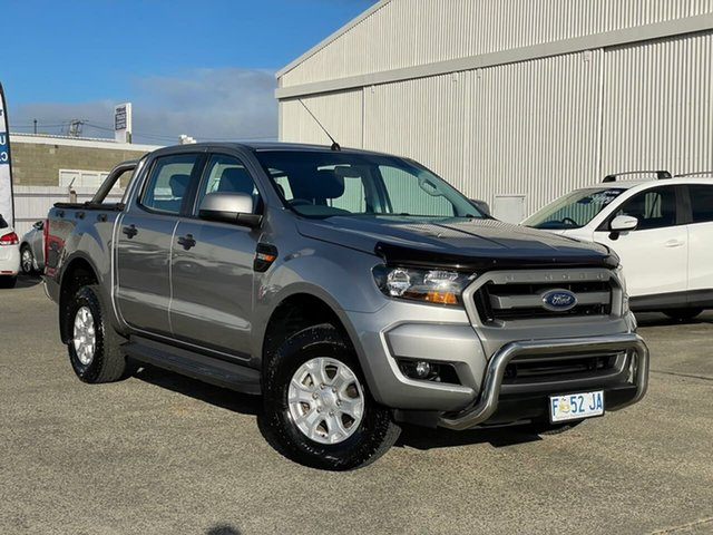 Used Ford Ranger PX MkII XLS Double Cab Moonah, 2016 Ford Ranger PX MkII XLS Double Cab Silver 6 Speed Sports Automatic Utility