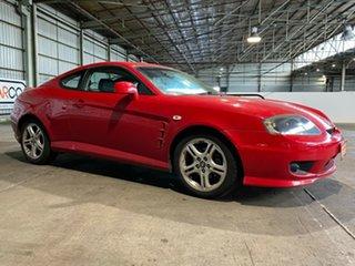 2005 Hyundai Tiburon GK MY05 V6 Red 4 Speed Sports Automatic Coupe.