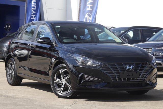 New Hyundai i30 PD.V4 MY22 Elizabeth, 2021 Hyundai i30 PD.V4 MY22 Black 6 Speed Sports Automatic Hatchback