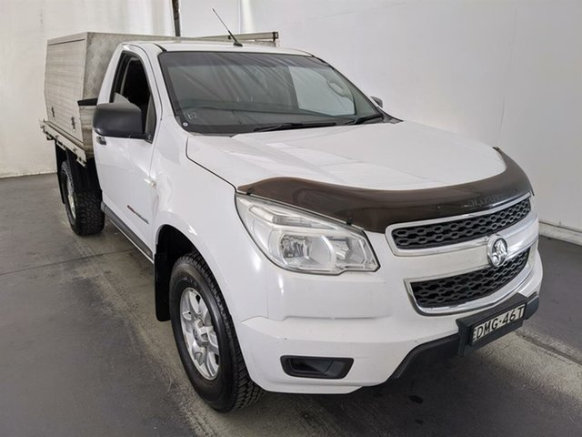 Used Holden Colorado RG MY15 DX Maryville, 2015 Holden Colorado RG MY15 DX White 6 Speed Manual Cab Chassis