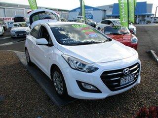 2015 Hyundai i30 White 4 Speed Automatic Hatchback.