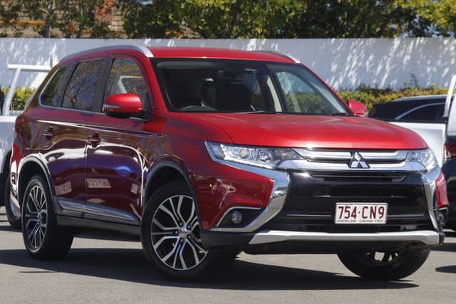 Used Mitsubishi Outlander ZL MY18.5 LS AWD Mount Gravatt, 2018 Mitsubishi Outlander ZL MY18.5 LS AWD Red 6 Speed Constant Variable Wagon