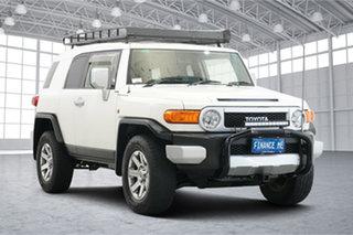 2013 Toyota FJ Cruiser GSJ15R White 5 Speed Automatic Wagon.