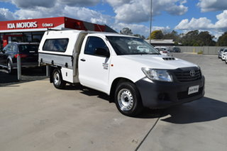 2015 Toyota Hilux KUN16R MY14 Workmate 4x2 White 5 Speed Manual Cab Chassis.