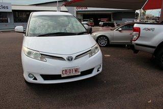 2013 Toyota Tarago ACR50R MY13 GLi Glacier White 7 Speed Constant Variable Wagon.