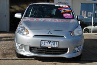 2013 Mitsubishi Mirage LA ES Silver 5 Speed Manual Hatchback