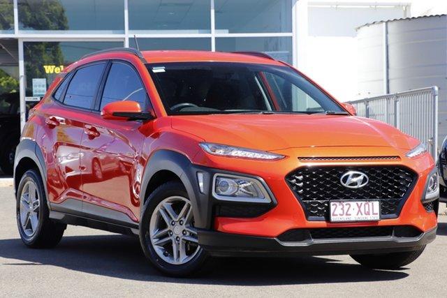 Used Hyundai Kona OS MY18 Active 2WD Toowoomba, 2017 Hyundai Kona OS MY18 Active 2WD Orange 6 Speed Sports Automatic Wagon