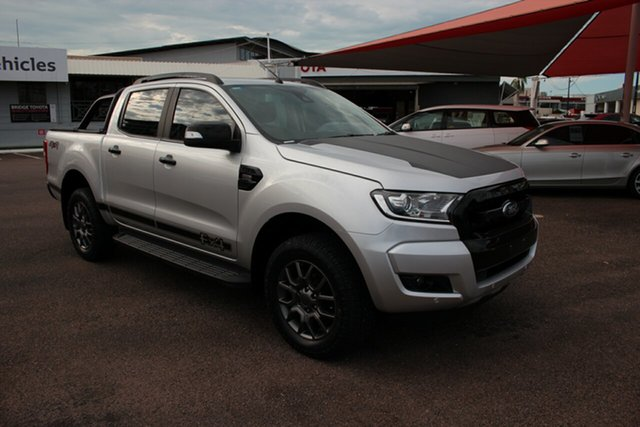 Pre-Owned Ford Ranger PX MkII 2018.00MY FX4 Double Cab Darwin, 2017 Ford Ranger PX MkII 2018.00MY FX4 Double Cab Silver 6 Speed Automatic Double Cab Pick Up