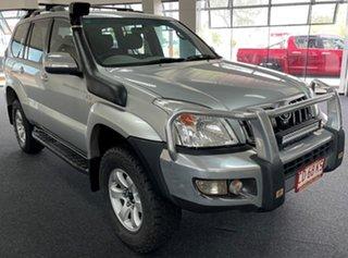2006 Toyota Landcruiser Prado KDJ120R GXL Silver 5 Speed Automatic Wagon.