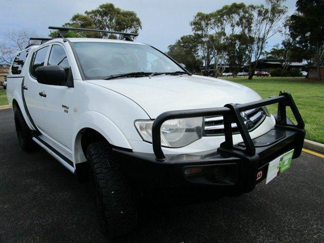 Used Mitsubishi Triton MN MY10 GLX (4x4) Glenelg, 2010 Mitsubishi Triton MN MY10 GLX (4x4) White 5 Speed Manual 4x4 Double Cab Utility
